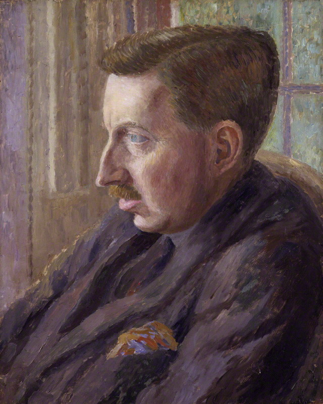Edward Morgan Forster ritratto da Dora Carrington (c. 1924-1925)